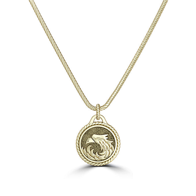 "UFC Khabib ""The Eagle"" Nurmagomedov Small Pendant in 14K Yellow Gold"