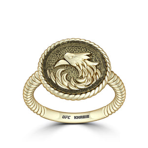 "UFC Khabib ""The Eagle"" Nurmagomedov Small Ring in 14K Yellow Gold"
