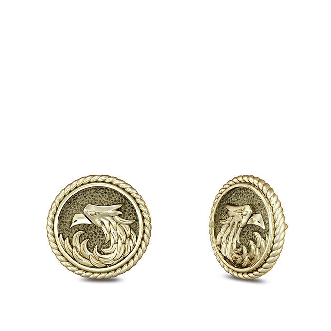 "UFC Khabib ""The Eagle"" Nurmagomedov Stud Earrings in 14K Yellow Gold"