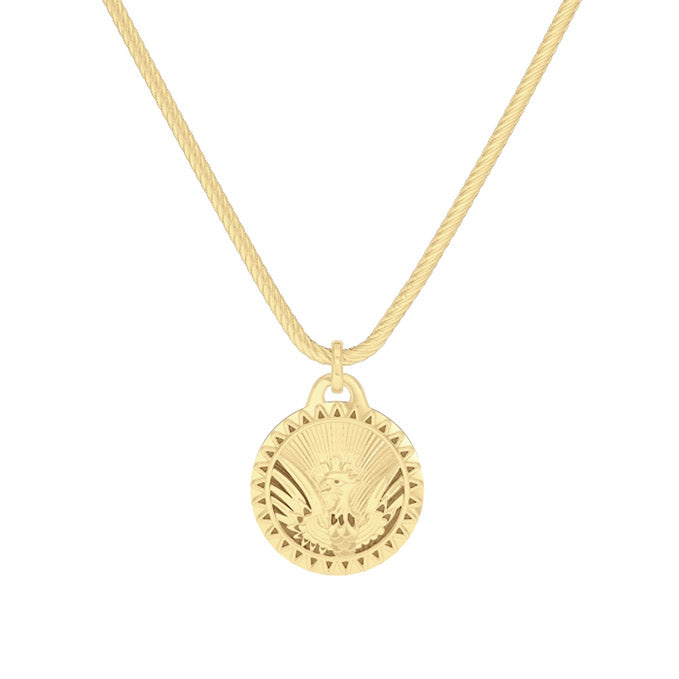 "UFC Joanna Jedrzejczyk 24"" Pendant in 14K Yellow Gold"