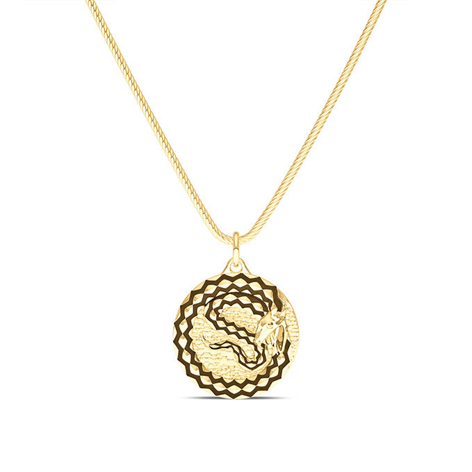 UFC TJ Dillashaw Pendant in 14K Yellow Gold