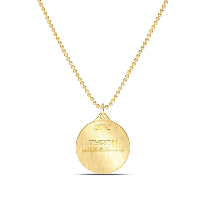 "UFC Tyron Woodley 30"" Pendant in 14K Yellow Gold"