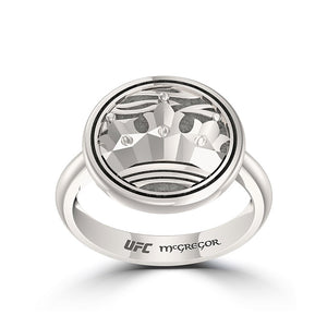 "UFC Conor ""The Notorious"" McGregor Crown Ring in Sterling Silver"