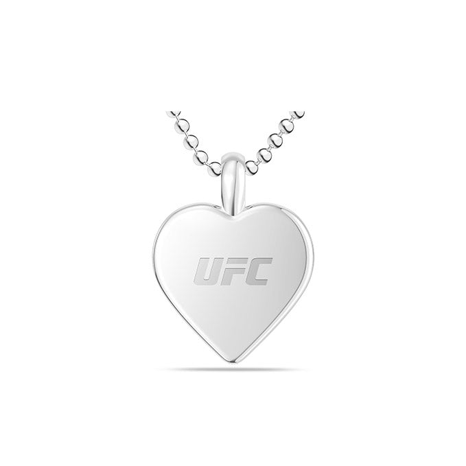 UFC Heart Pendant in Sterling Silver
