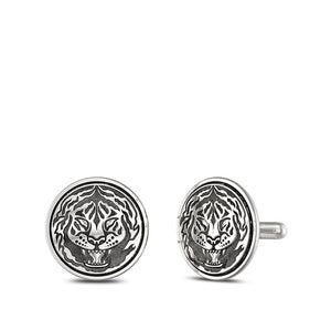 "UFC Conor ""The Notorious"" McGregor Tiger Cuff Links in Sterling Silver"
