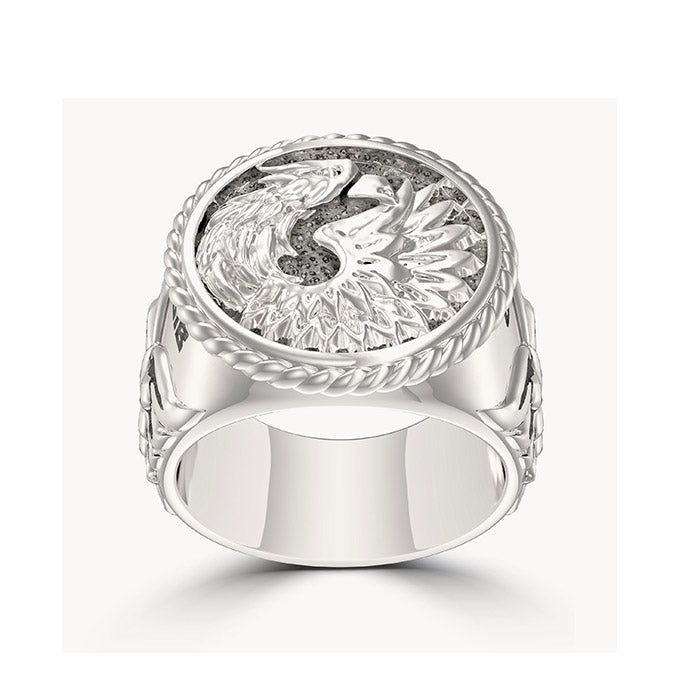 "UFC Khabib ""The Eagle"" Nurmagomedov Large Ring in Sterling Silver"