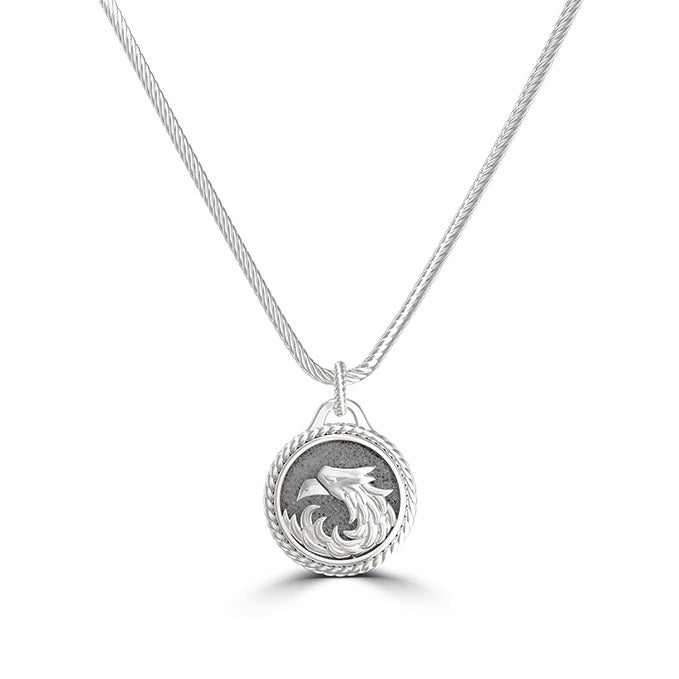 "UFC Khabib ""The Eagle"" Nurmagomedov Small Pendant in Sterling Silver"