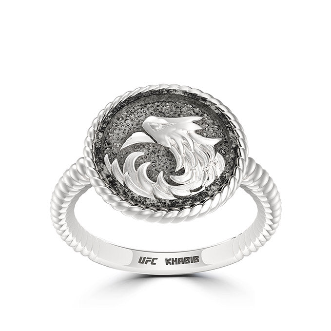 "UFC Khabib ""The Eagle"" Nurmagomedov Small Ring in Sterling Silver"