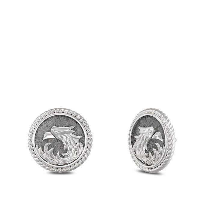 "UFC Khabib ""The Eagle"" Nurmagomedov Stud Earrings in Sterling Silver"