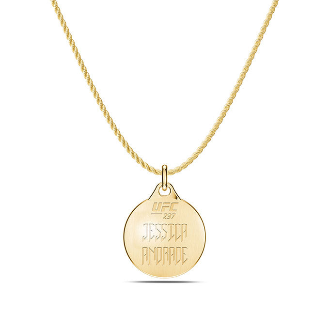 UFC Jessica Andrade Pendant in 14K Yellow Gold