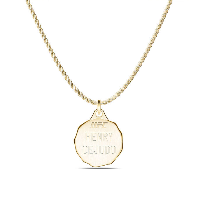 UFC Henry Cejudo Small Pendant in 14K Yellow Gold