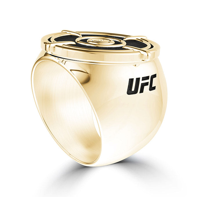 UFC Valentina Shevchenko Men's Ring in 14K Yellow Gold