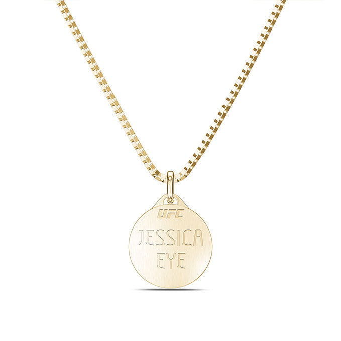 UFC Jessica Eye Small Pendant in 14K Yellow Gold