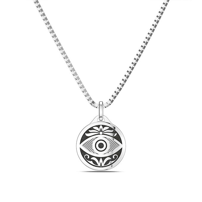UFC Jessica Eye Small Pendant in Sterling Silver