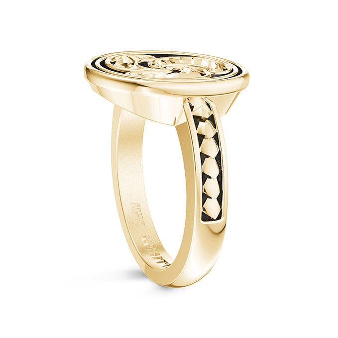 UFC Robert Whittaker Small Ring in 14K Yellow Gold