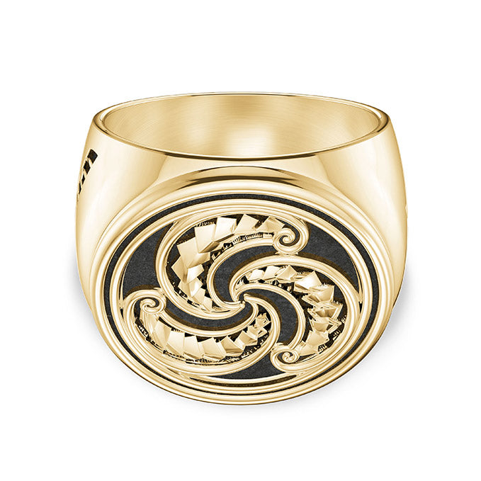 UFC Robert Whittaker Large Ring in 14K Yellow Gold