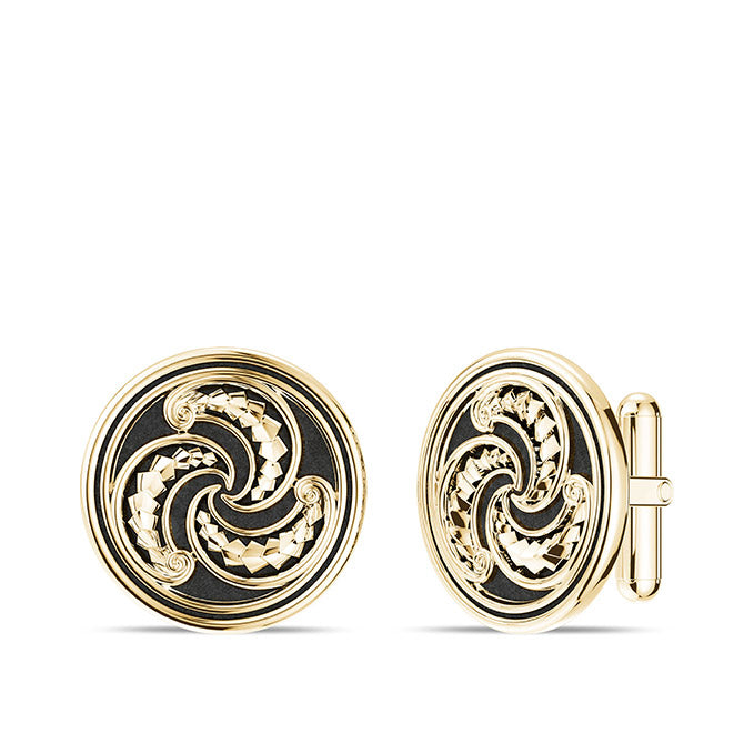 UFC Robert Whittaker Cuff Links in 14K Yellow Gold