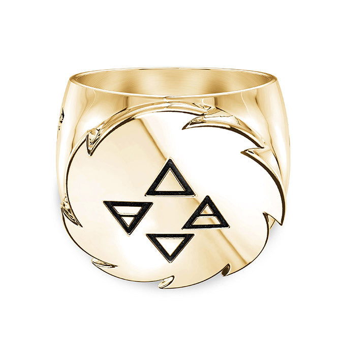 UFC Israel Adesanya Large Ring in 14K Yellow Gold