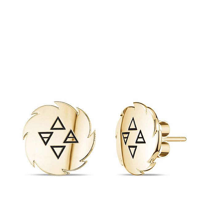 UFC Israel Adesanya Earrings in 14K Yellow Gold