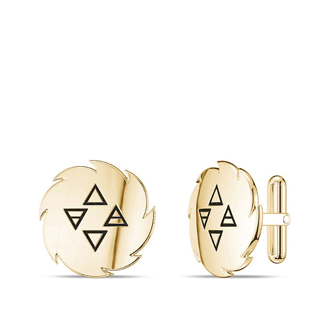 UFC Israel Adesanya Cuff Links in 14K Yellow Gold