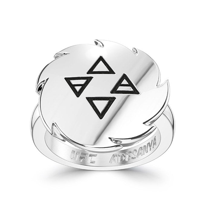 UFC Israel Adesanya Small Ring in Sterling Silver