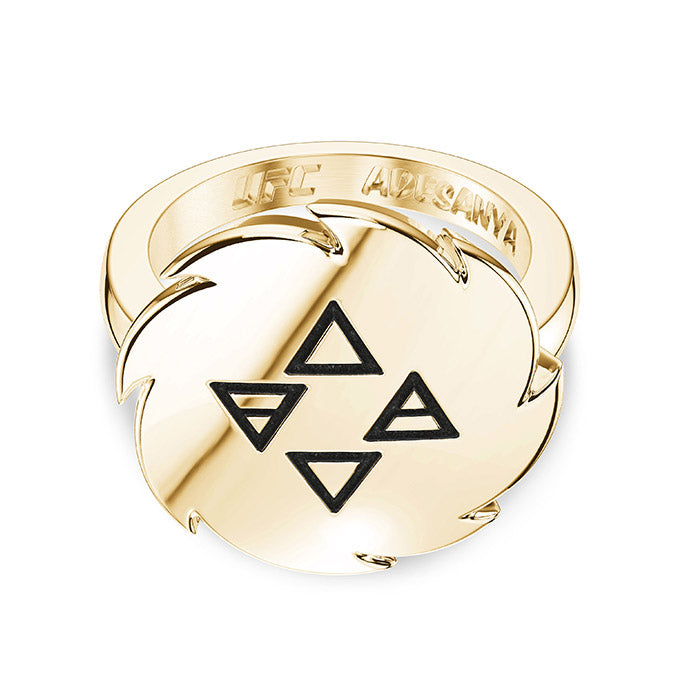 UFC Israel Adesanya Small Ring in 14k Yellow Gold