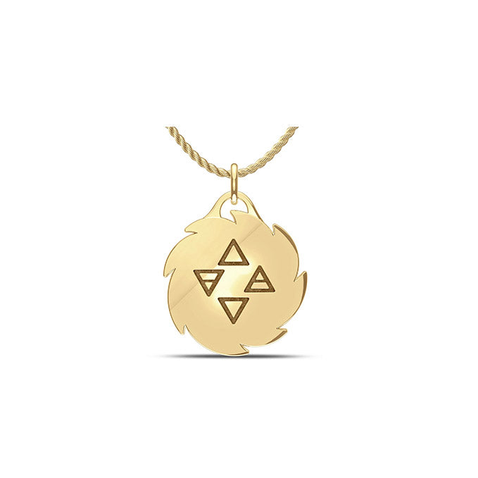 UFC Israel Adesanya Large Pendant in 14K Yellow Gold