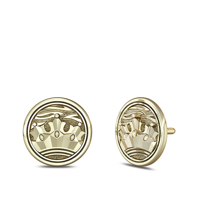"UFC Conor ""The Notorious"" McGregor Crown Stud Earrings in 14K Yellow Gold"