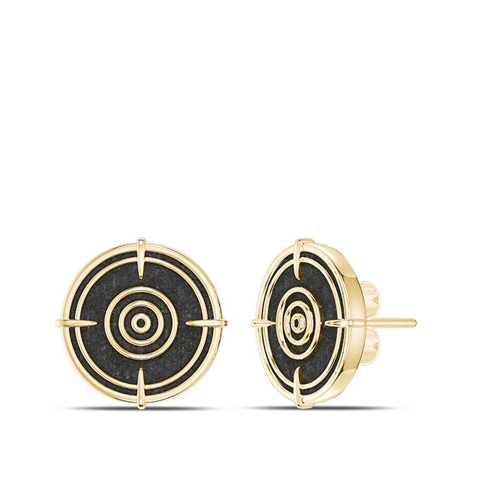 UFC Valentina Shevchenko Stud Earrings  in 14K Yellow Gold