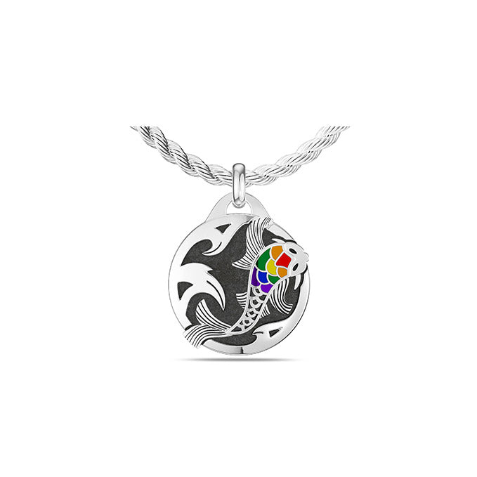 UFC Liz Carmouche Small Pendant in Sterling Silver