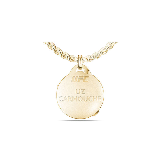 UFC Liz Carmouche Small Pendant in 14K Yellow Gold