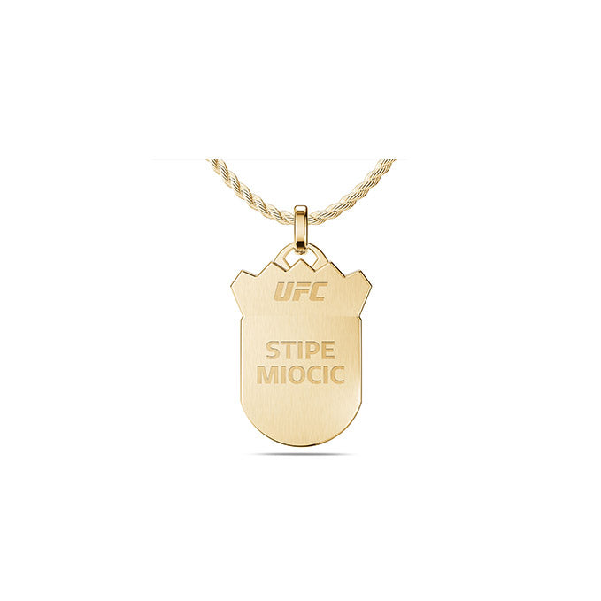 UFC Stipe Miocic Large Pendant in 14K Yellow Gold