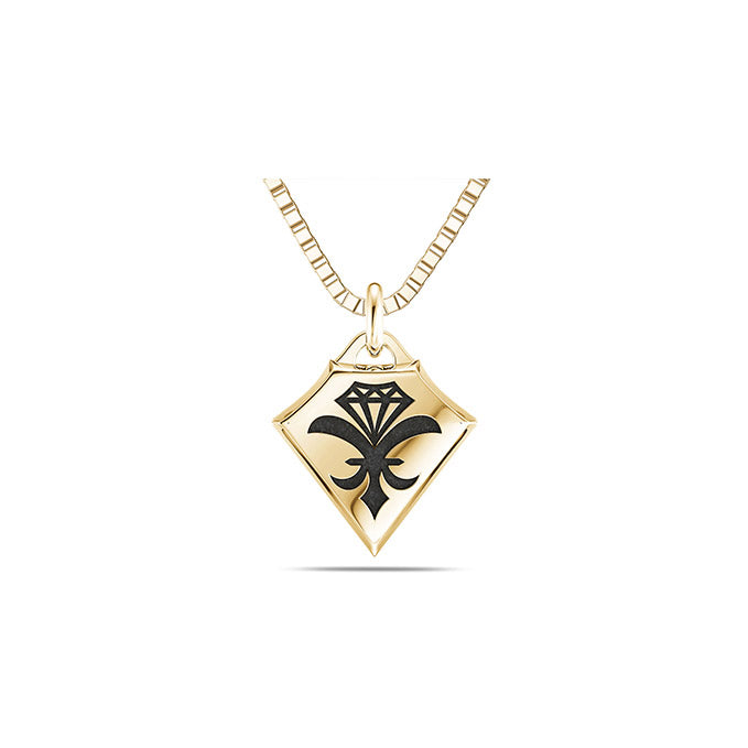 UFC Dustin Poirier Small Pendant in 14K Yellow Gold