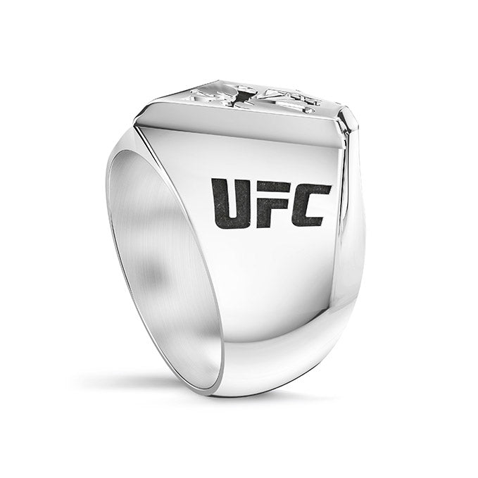 UFC Dustin Poirier Large Ring in Sterling Silver