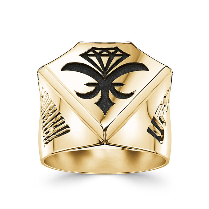UFC Dustin Poirier Large Ring in 14K Yellow Gold