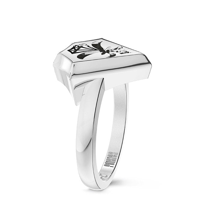 UFC Dustin Poirier Small Ring in Sterling Silver