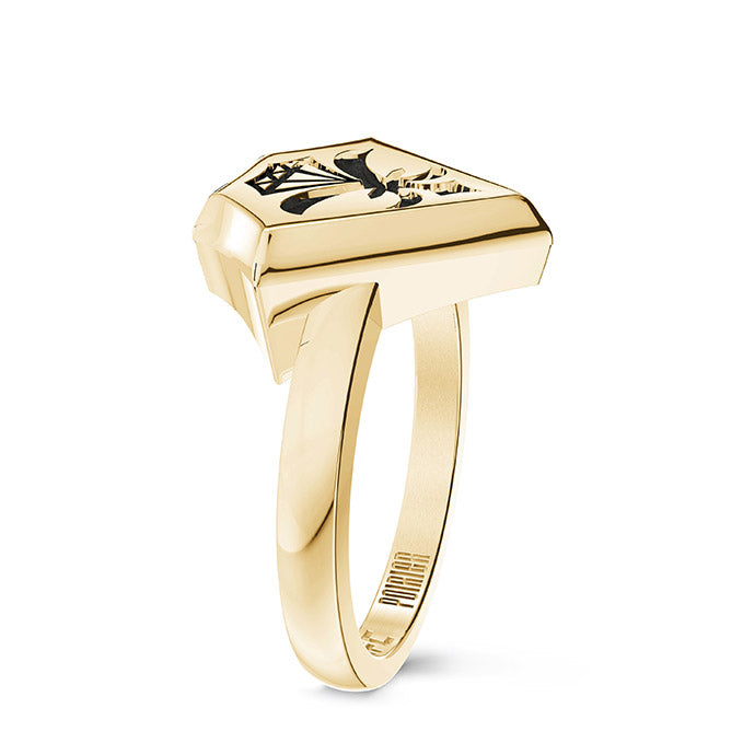 UFC Dustin Poirier Small Ring in 14K Yellow Gold