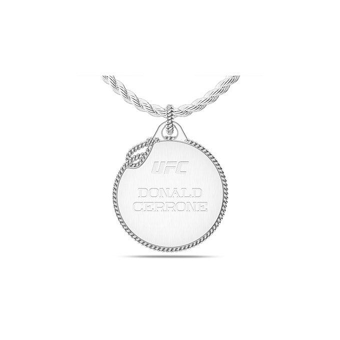 UFC Donald Cerrone Large Pendant in Sterling Silver