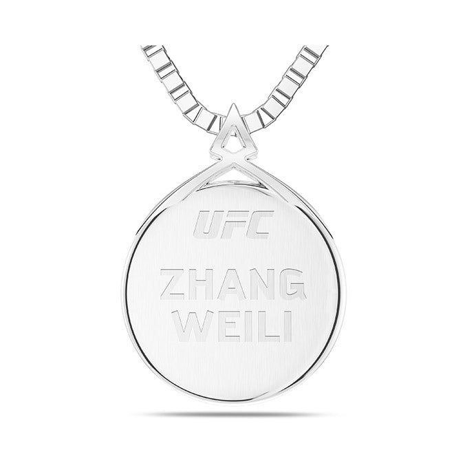 UFC Zhang Weili Small Pendant in Sterling Silver