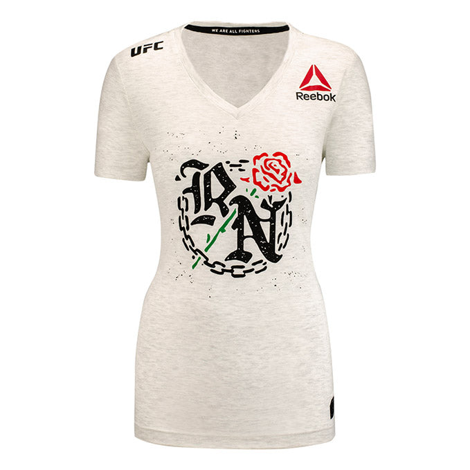 Women's Reebok Rose Namajunas Chalk Authentic UFC 217 Legacy Series Walkout Jersey