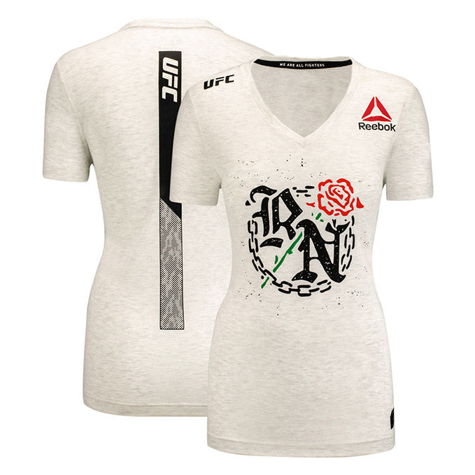 5c4a87bf1a144 Women's Reebok Rose Namajunas Chalk Authentic UFC 217 Legacy Series Walkout  Jersey
