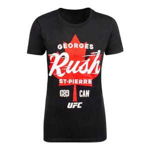 Women's UFC Georges St-Pierre Maple Leaf T-Shirt