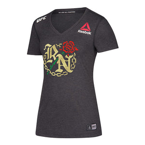 Women's Reebok Rose Namajunas Black Authentic UFC 237 Legacy Series Walkout Jersey