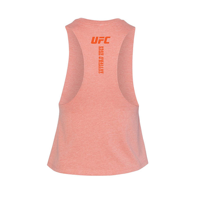 Women's UFC Sugar Show Cultivate Capsule Cropped Tank - Sunset