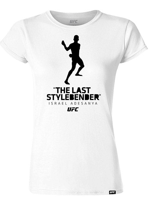 "Women's Israel ""The Last Style Bender"" Adesanya Silhouette UFC T-Shirt"