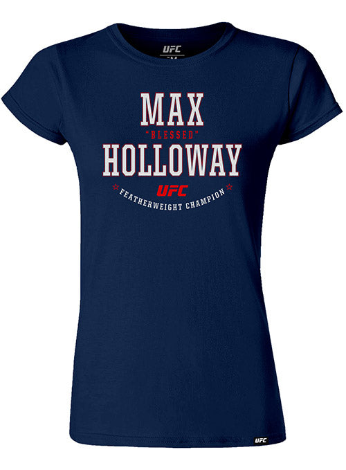 "Women's Max ""Blessed"" Holloway Solid Graphic UFC T-Shirt"