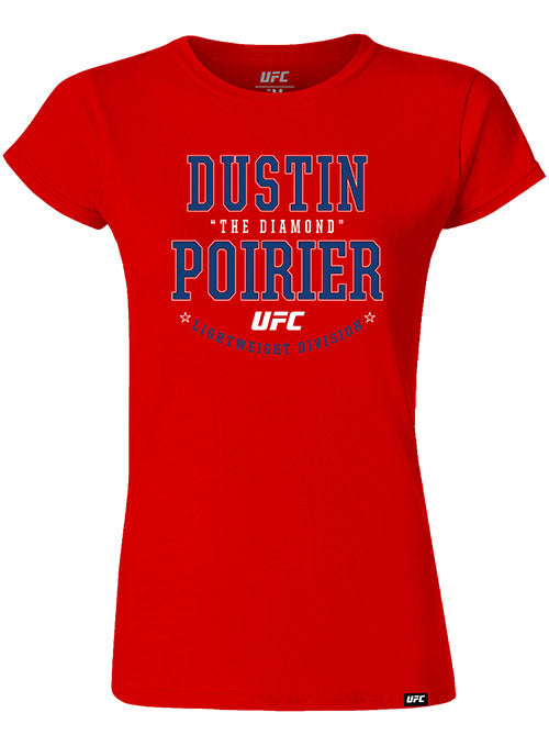 "Women's Dustin ""The Diamond"" Poirier Color Graphic UFC T-Shirt"