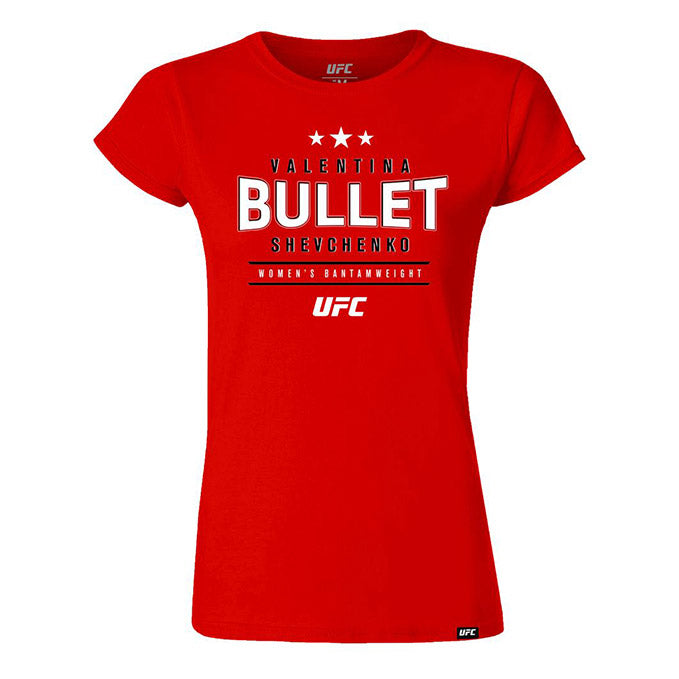 "Women's Valentina ""Bullet"" Shevchenko Graphic T-Shirt - Red"