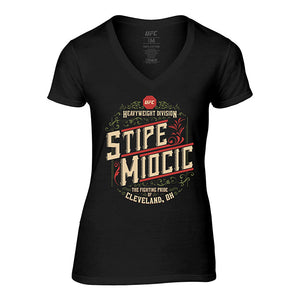 Women's UFC Stipe Miocic Heavyweight Graphic T-Shirt - Black