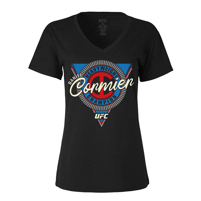 "Women's UFC Daniel ""DC"" Cormier Heavyweight Symbol Graphic T-Shirt - Black"